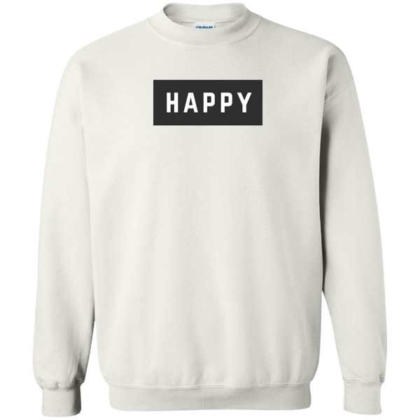 Happy Black and White Unisex Sweatshirt