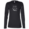 This Girl Is Happy WB Ladies' Long Sleeve Missy Fit