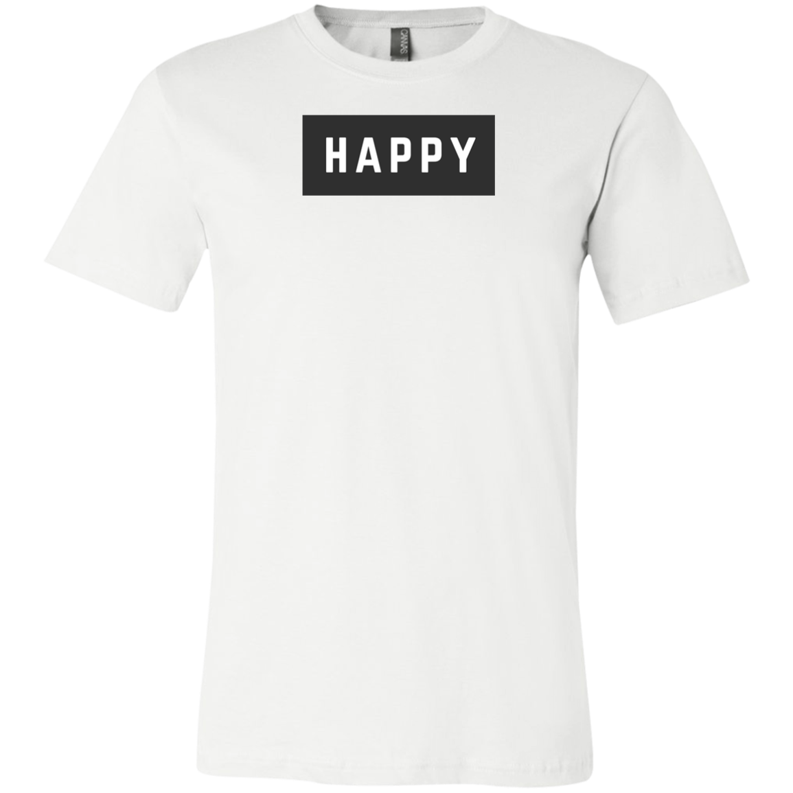 Happy Black and White Unisex Short-Sleeve T-Shirt