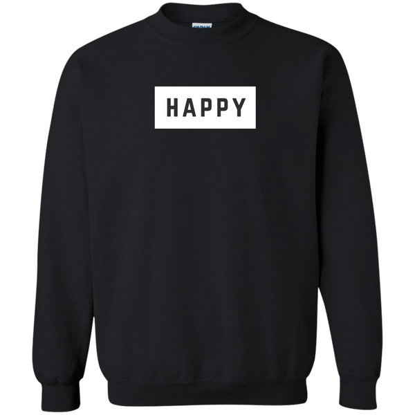 Happy Black and White Pullover Sweatshirt