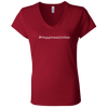#HappinessUnites Ladies' Jersey V-Neck T-Shirt
