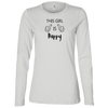 This Girl Is Happy BW Ladies' Long Sleeve Relaxed Fit
