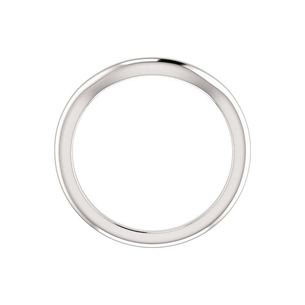 The Letitia Design Wedding Ring In White Gold Profile