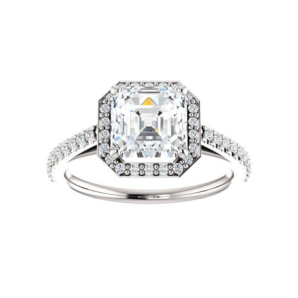 The Viva Moissanite Asscher