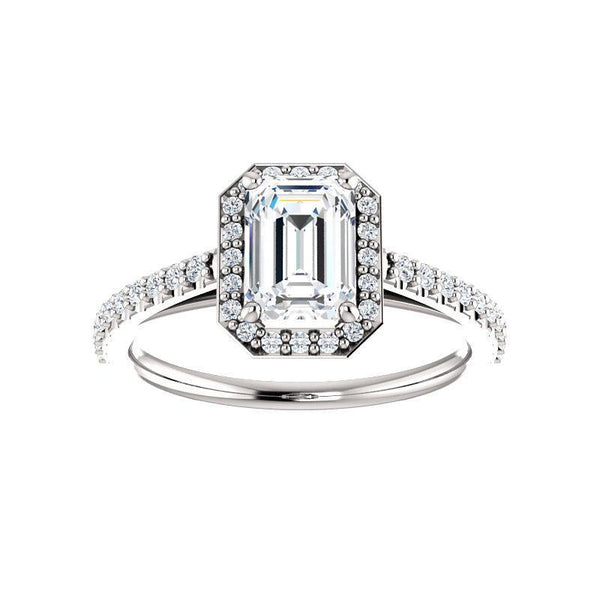 The Viva Moissanite/ Moissanite Emerald