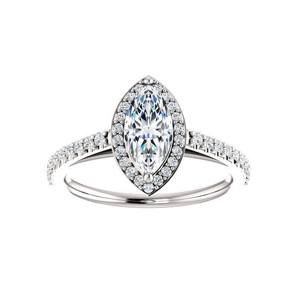 The Viva Moissanite/ Moissanite Marquise
