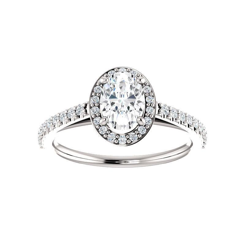 The Viva Moissanite/ Moissanite Oval