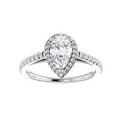 The Viva Moissanite Pear