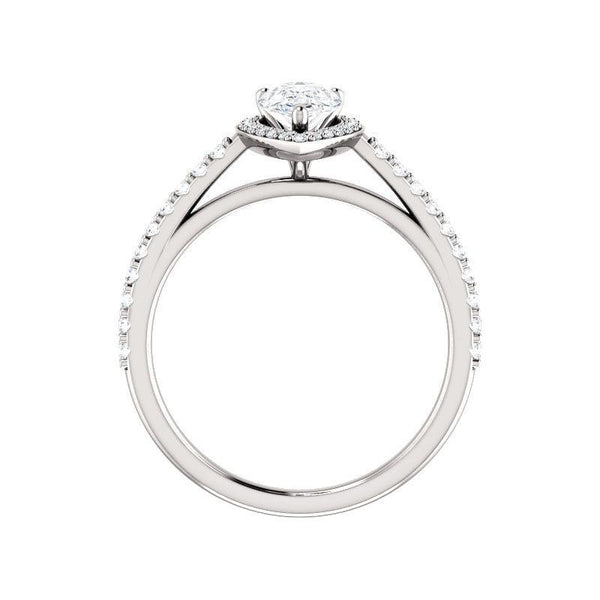 The Viva Moissanite/ Moissanite Pear