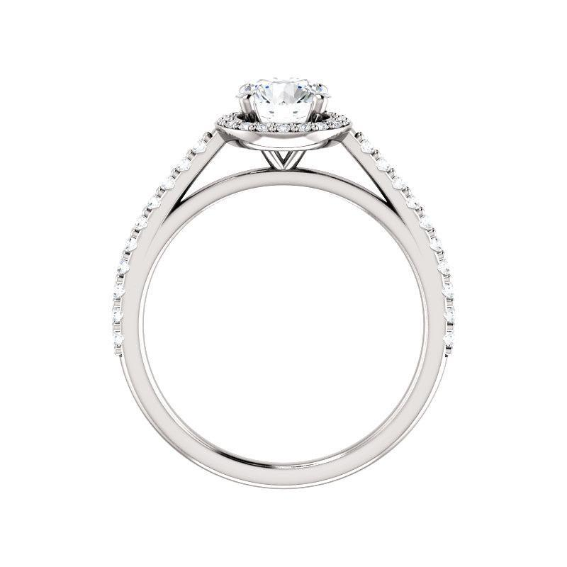 The Viva Moissanite/ Moissanite Round