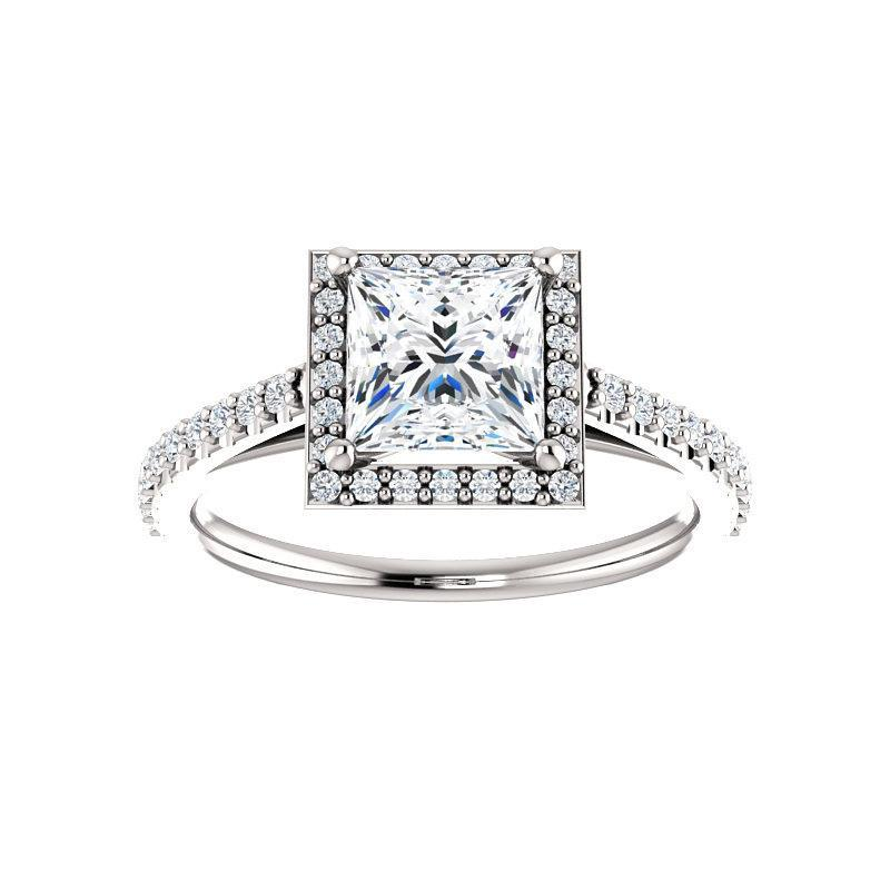 The Viva Moissanite/ Moissanite Princess