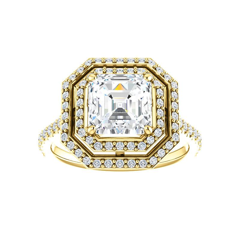 The Viva II Moissanite Asscher