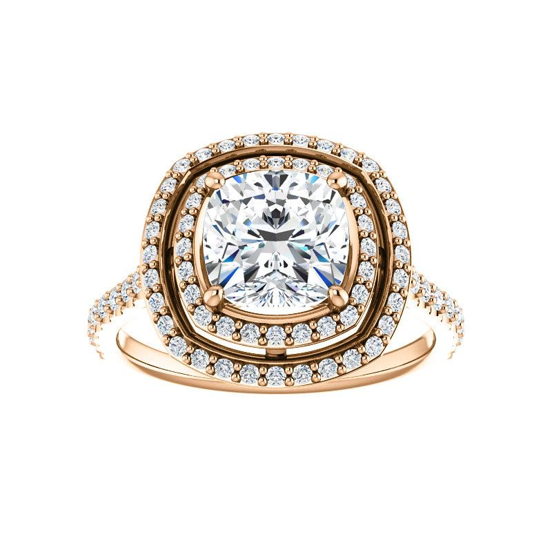 The Viva II Moissanite Cushion