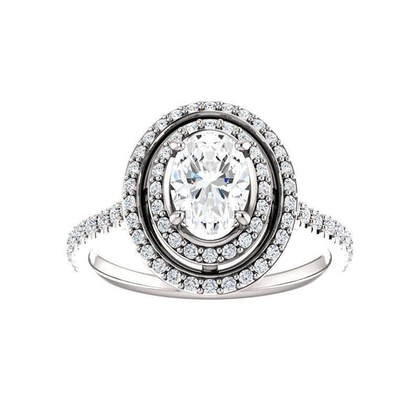 The Viva II Moissanite/ Moissanite Oval