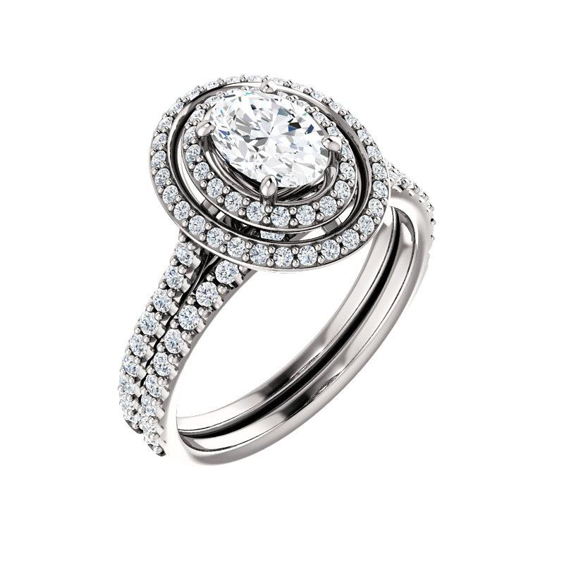 The Viva II Moissanite Oval