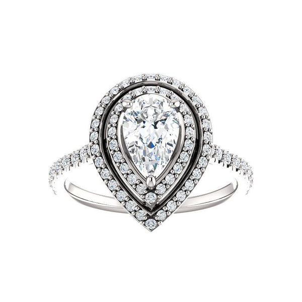 The Viva II Moissanite Pear