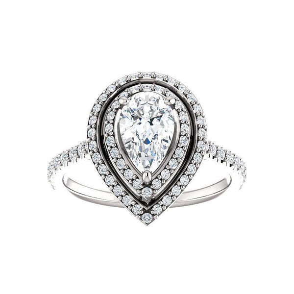 The Viva II Moissanite/ Moissanite Pear