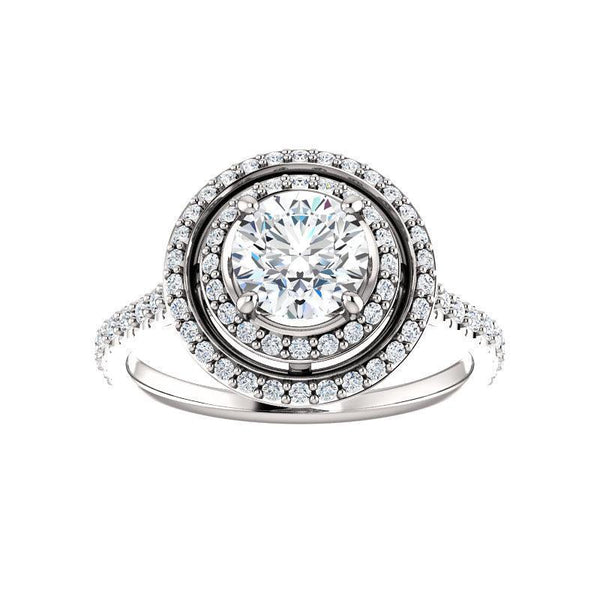 The Viva II Moissanite/ Moissanite Round