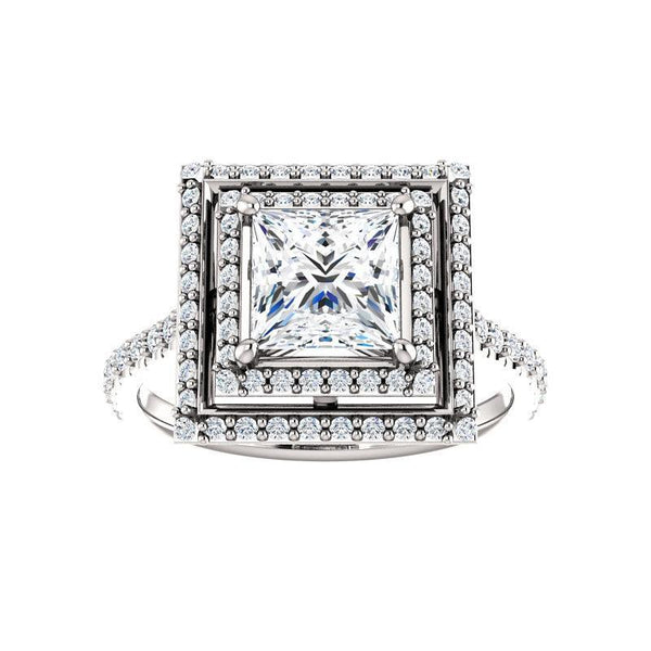 The Viva II Moissanite/ Moissanite Princess