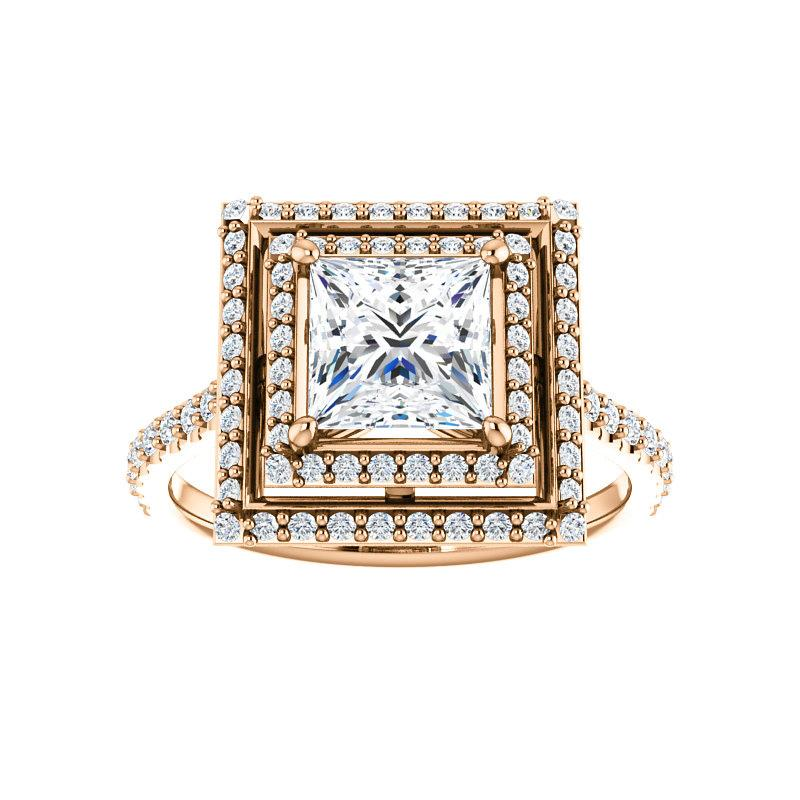 The Viva II Moissanite Princess