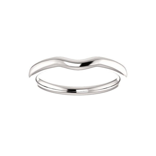 The Denice Band Rope Design Wedding Ring In White Gold