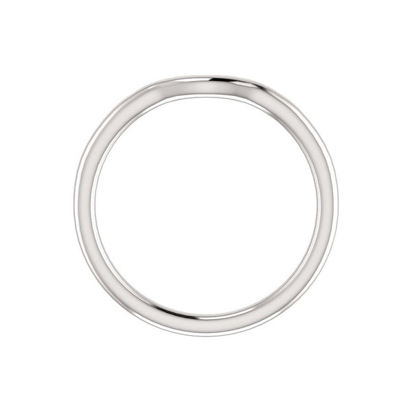 The Denice Band Rope Design Wedding Ring In White Gold Profile