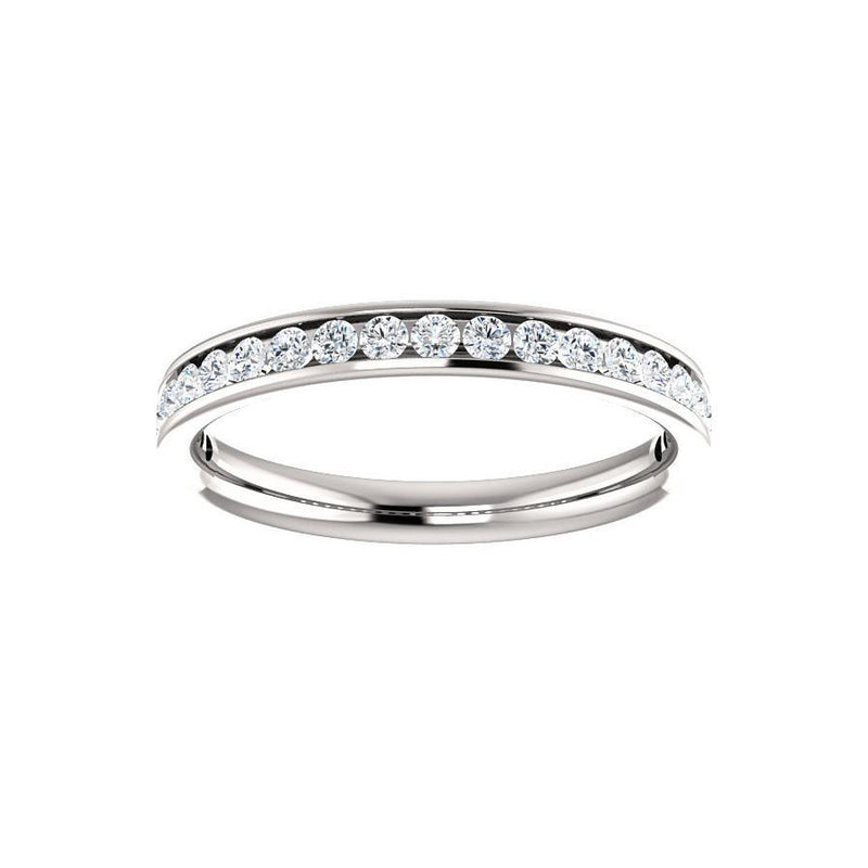 Tracee Moissanite wedding ring in white gold