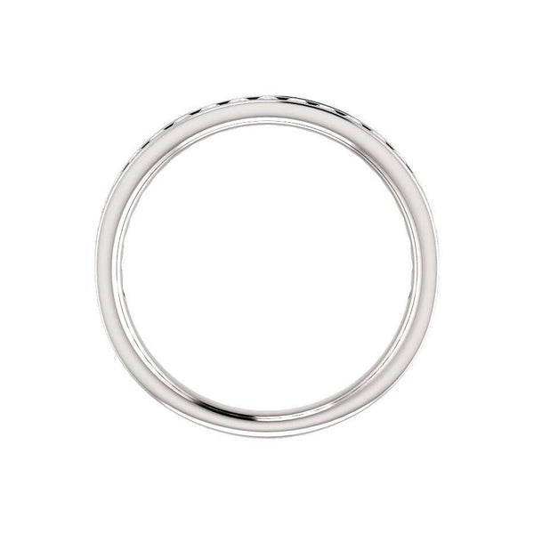Tracee Moissanite wedding ring in white gold profile