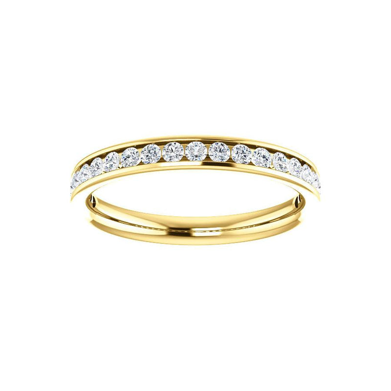 Tracee Moissanite wedding ring in yellow gold