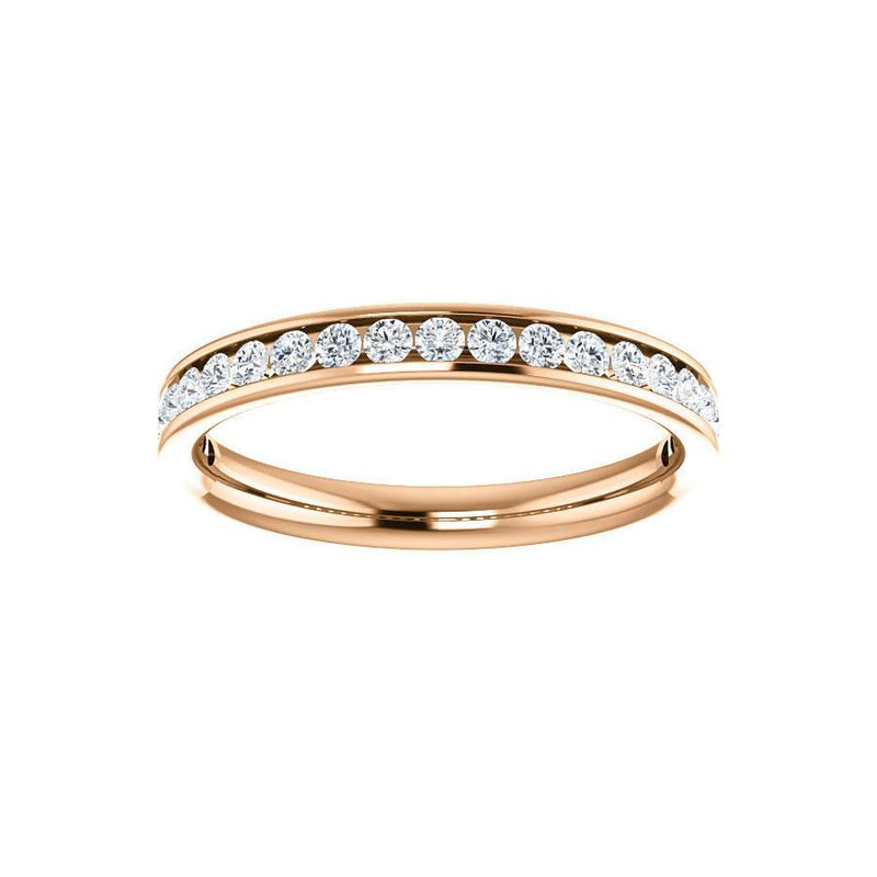 Tracee Moissanite wedding ring in rose gold