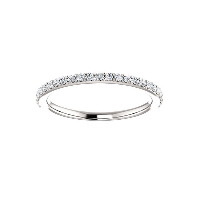 Kathe Moissanite wedding ring in white gold