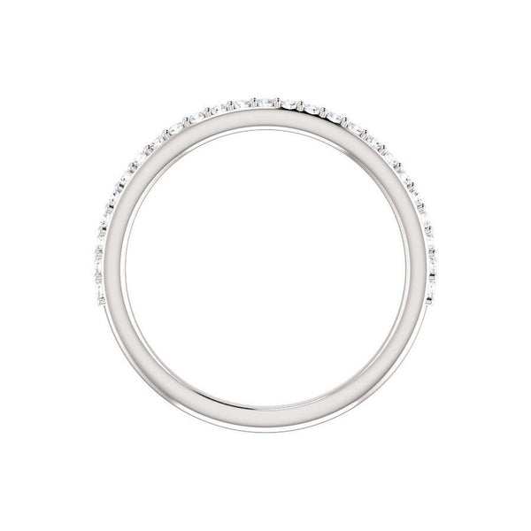 Kathe Diamond wedding ring in white gold profile
