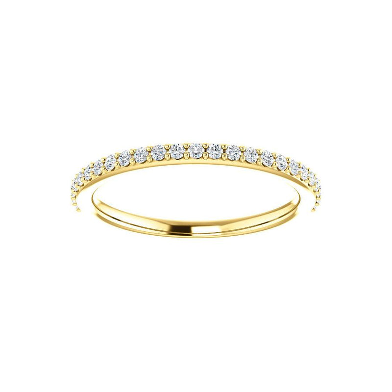 Kathe Moissanite wedding ring in yellow gold