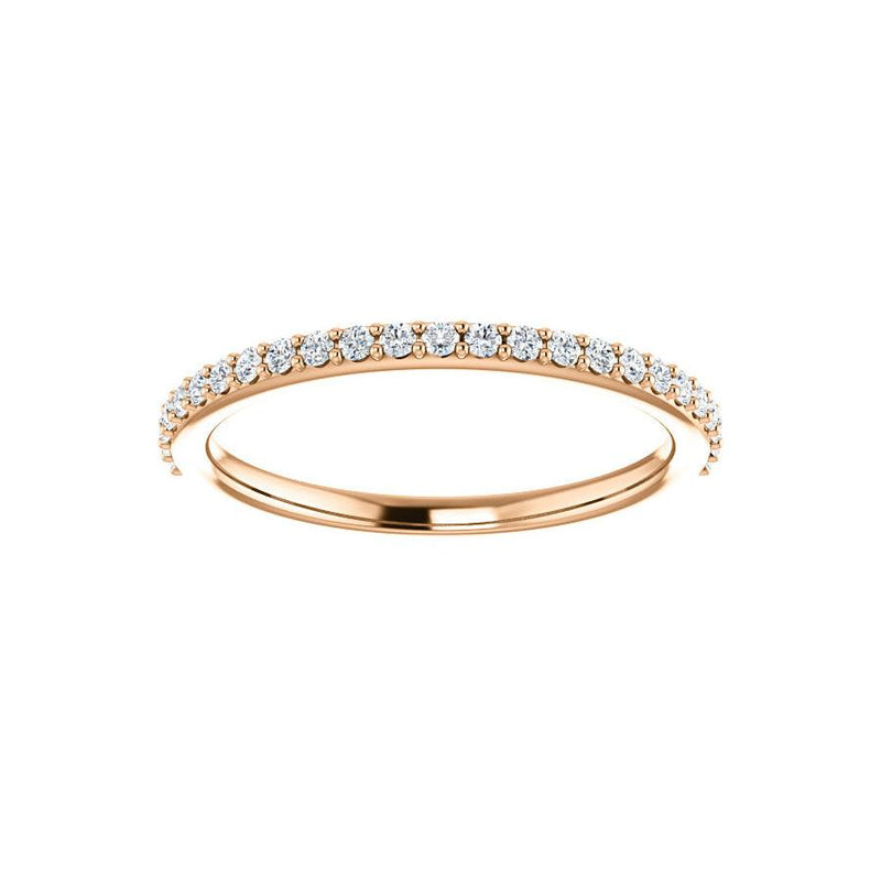 Kathe Moissanite wedding ring in rose gold