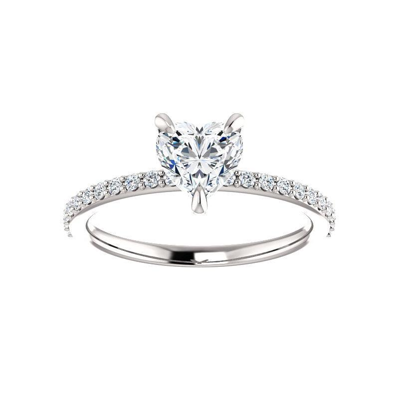 The Kathe Moissanite heart moissanite engagement ring solitaire setting white gold