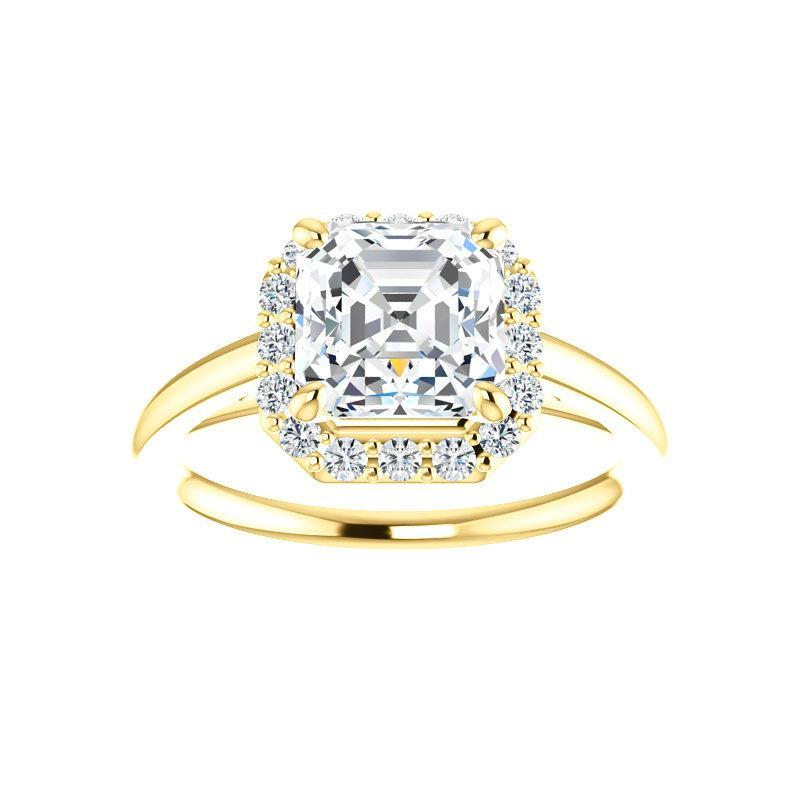 The Nadia Moissanite/ Moissanite Asscher