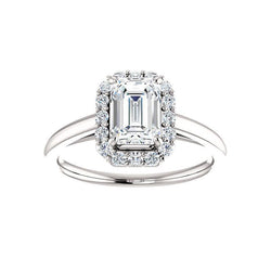 The Nadia Moissanite/ Moissanite Emerald