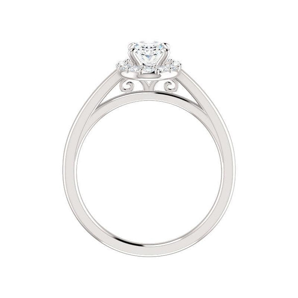 The Nadia Moissanite/ Moissanite Oval