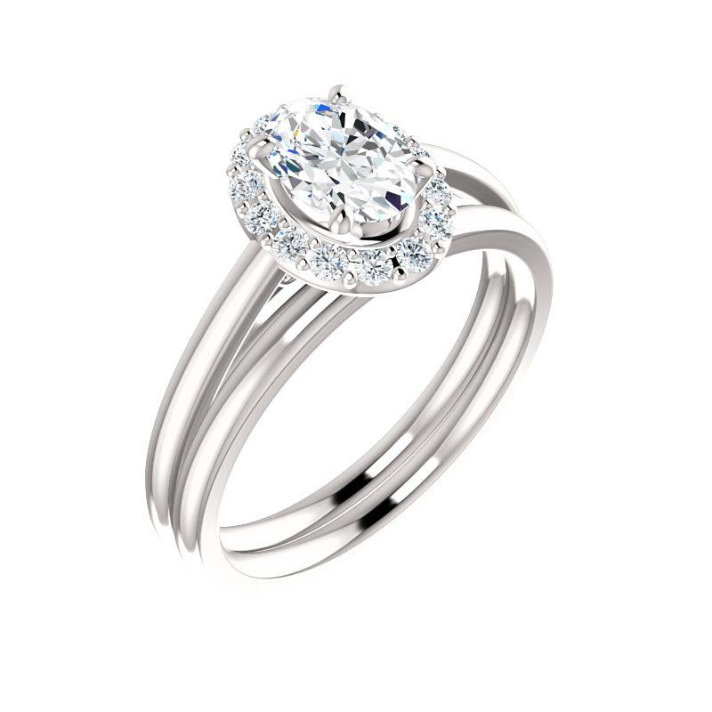 The Nadia Moissanite Oval