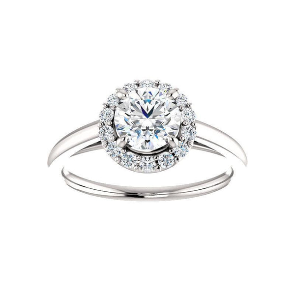 The Nadia Moissanite/ Moissanite Round
