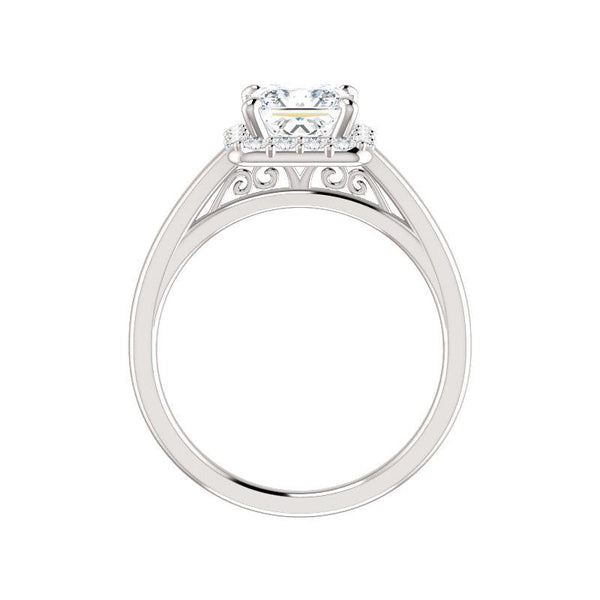 The Nadia Moissanite Princess