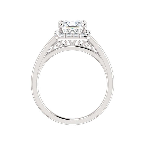 The Nadia Moissanite/ Moissanite Princess