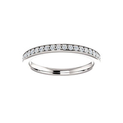 Weston wedding ring in white gold