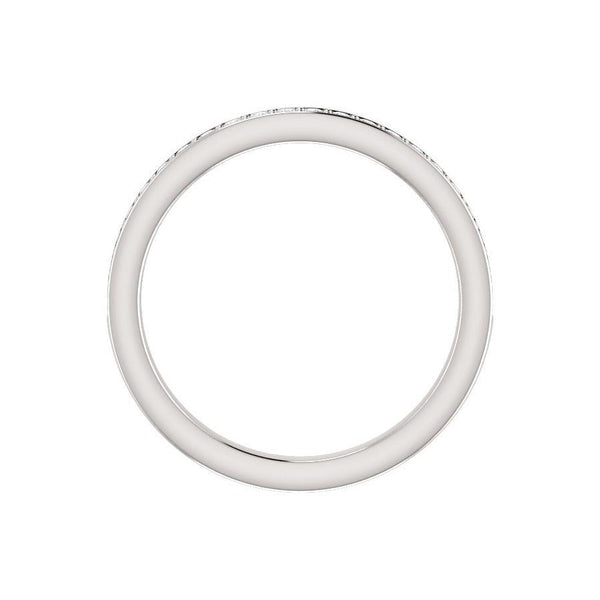 Weston wedding ring in white gold profile
