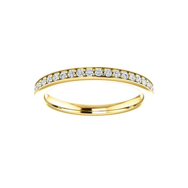 Weston wedding ring in yellow gold