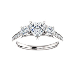 The Weston heart moissanite engagement ring solitaire setting white gold