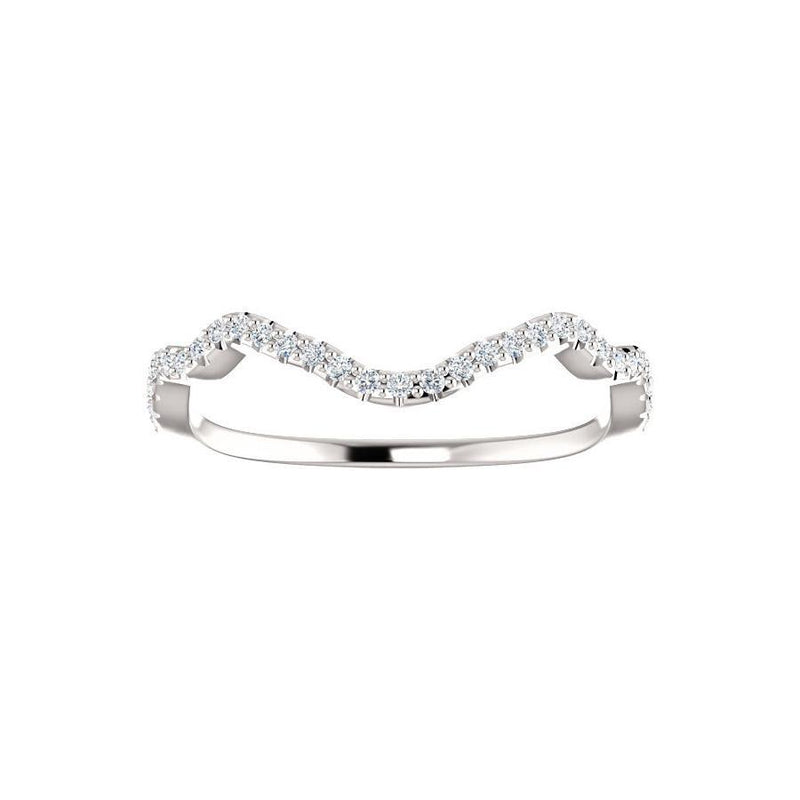 The Arlene Moissanite Matching Band