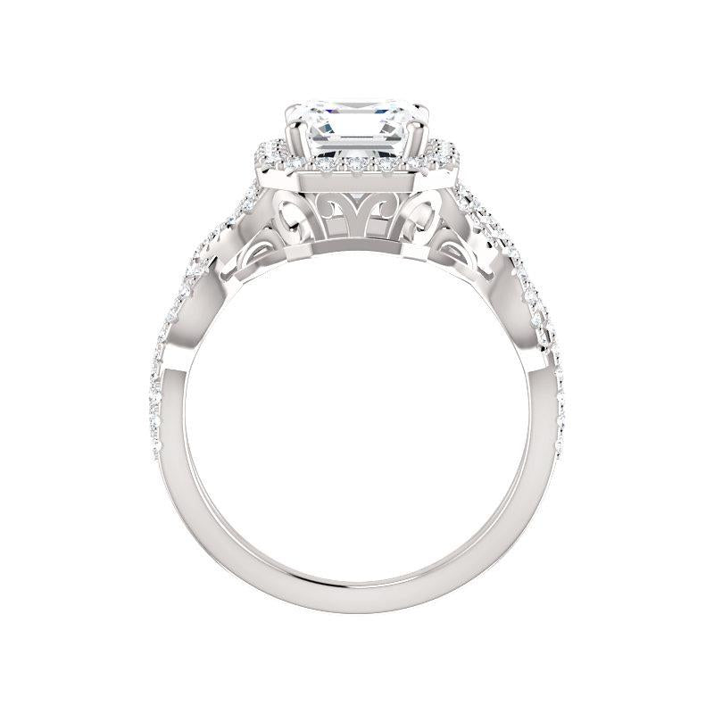 The Arlene Moissanite Asscher