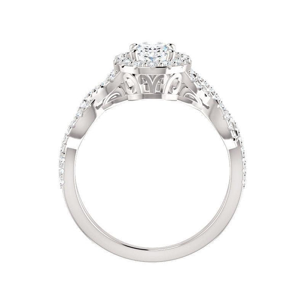 The Arlene Moissanite/ Moissanite Oval