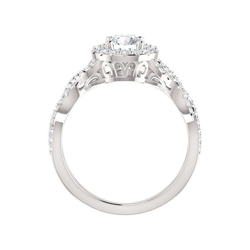 The Arlene Moissanite/ Moissanite Round